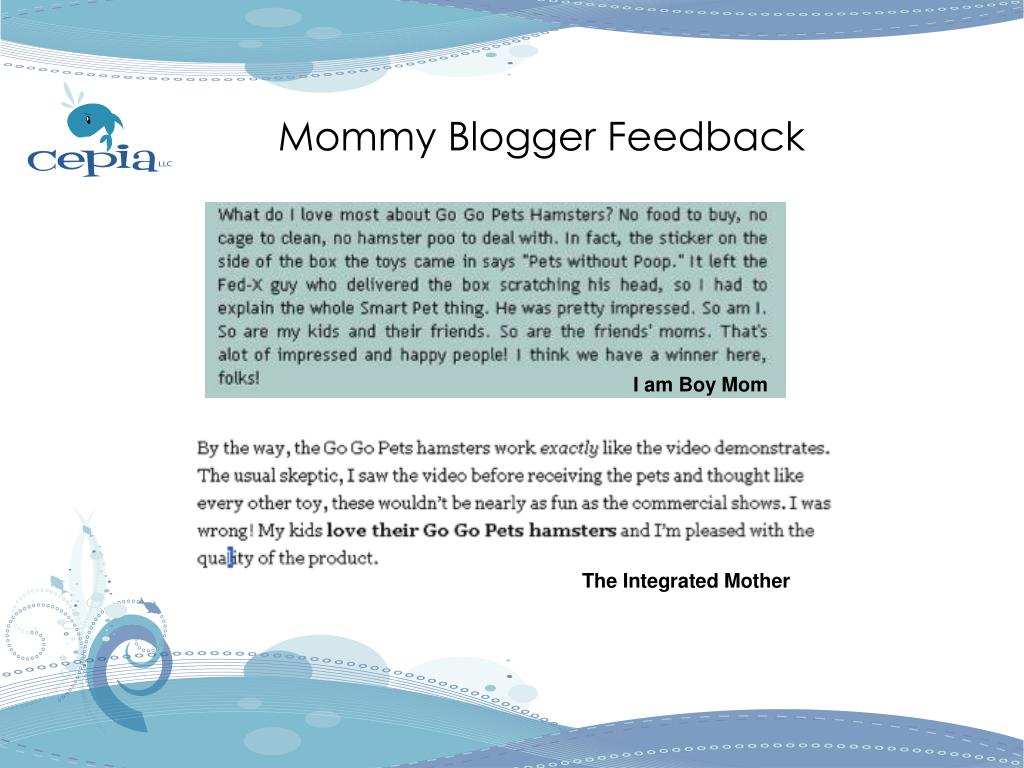 Mommy Blogger Feedback