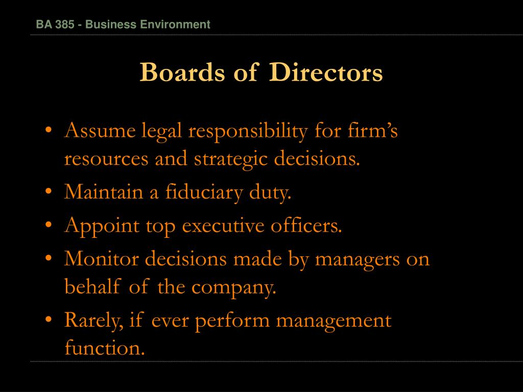 Boards of Directors