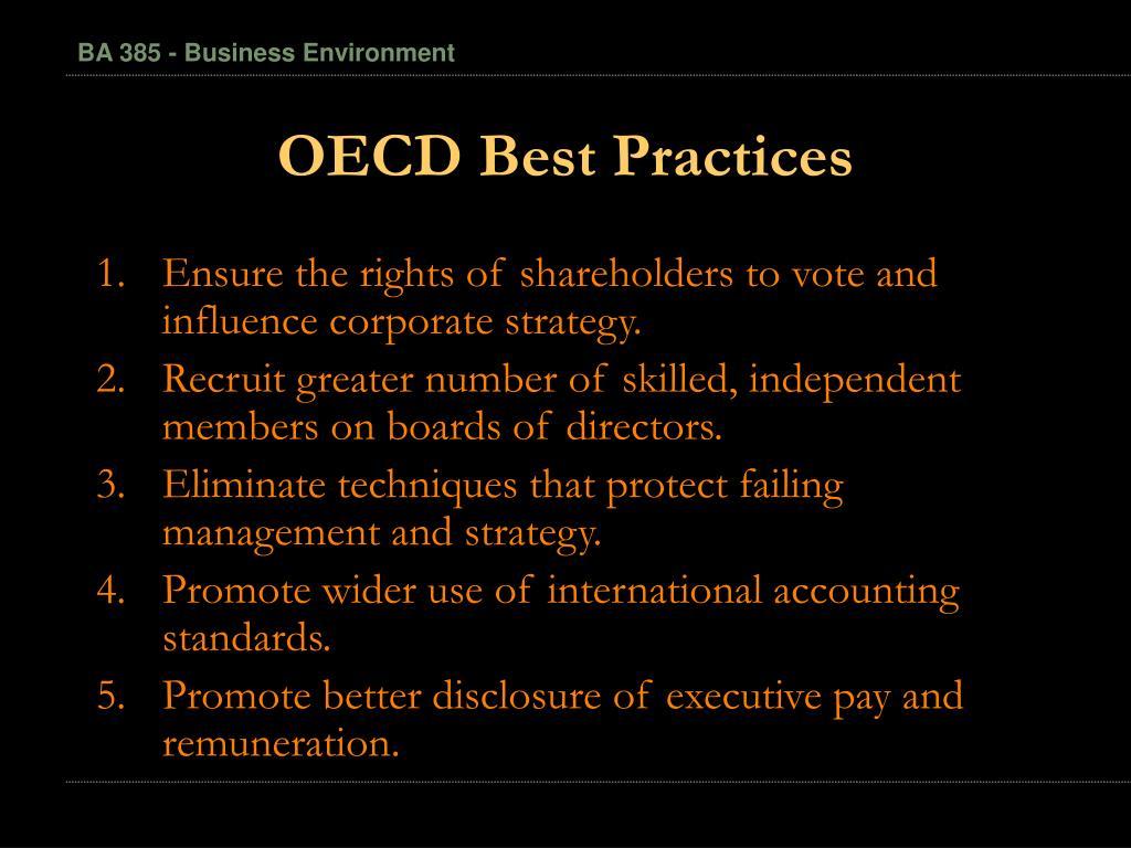 OECD Best Practices