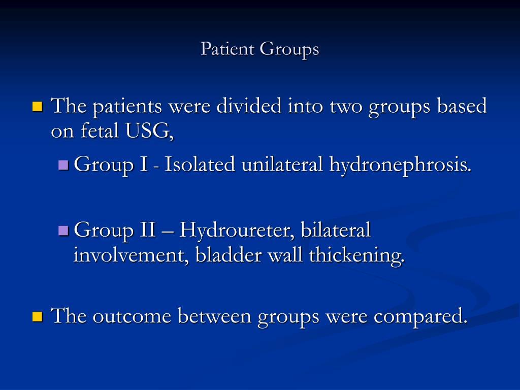 Patient Groups