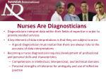 nurses are diagnosticians