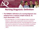 nursing diagnosis definition