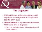 the diagnoses