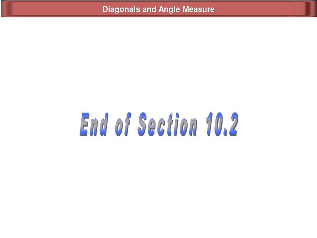 Diagonals and Angle Measure