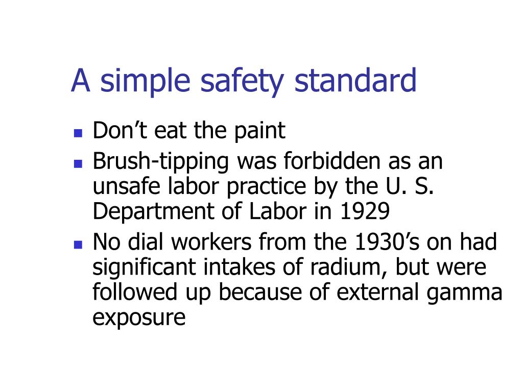 A simple safety standard
