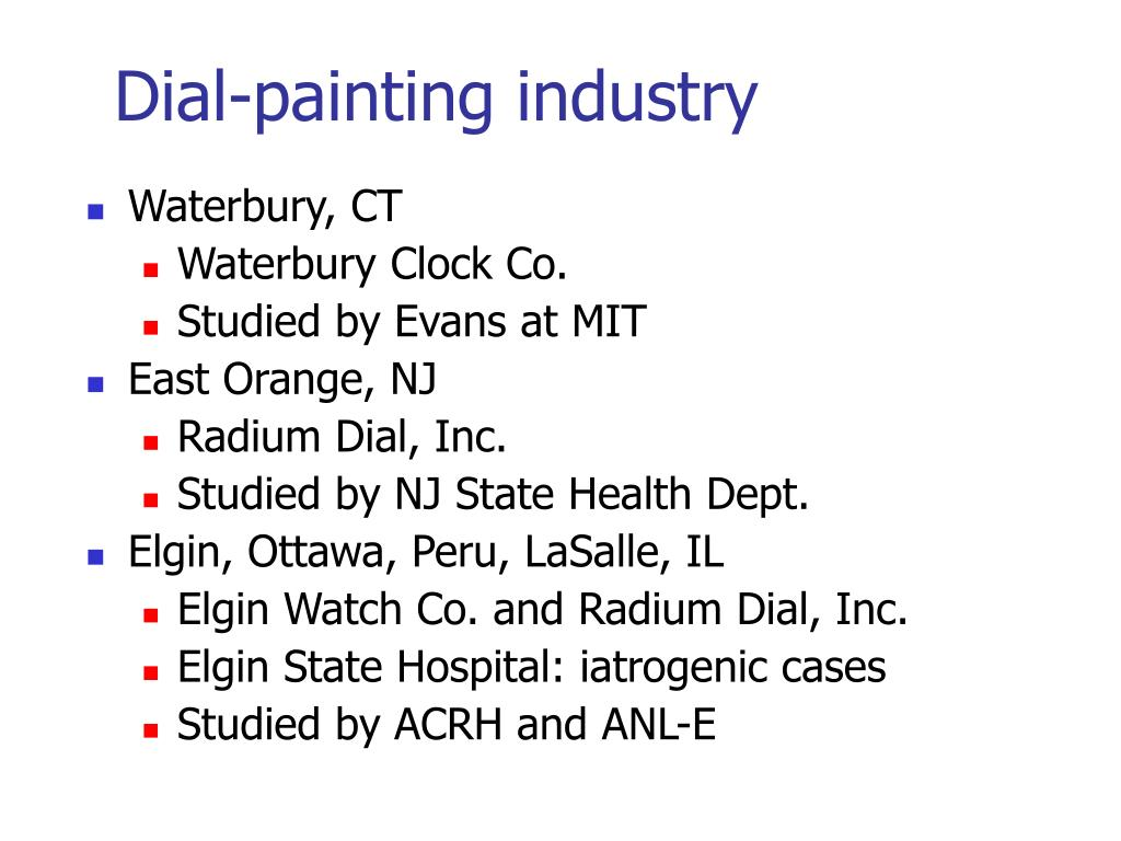 Dial-painting industry