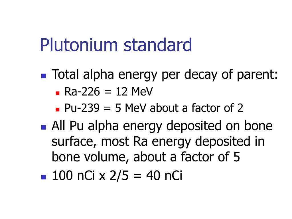 Plutonium standard