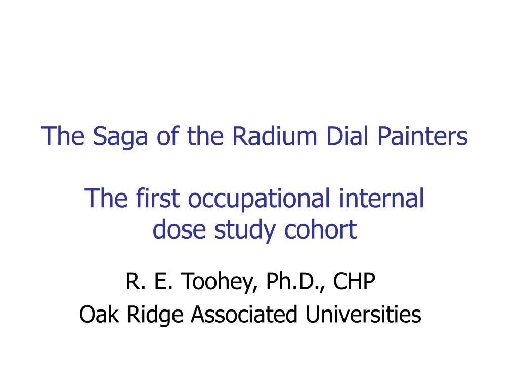 The Saga of the Radium Dial Painters