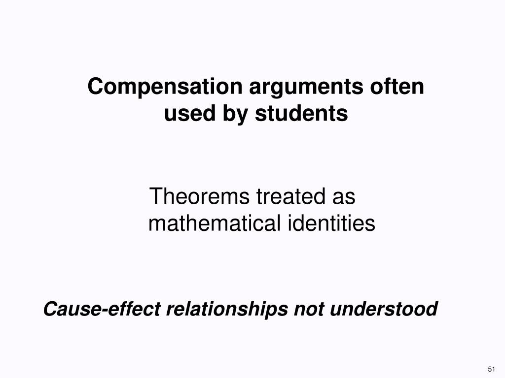 Compensation arguments often used by students