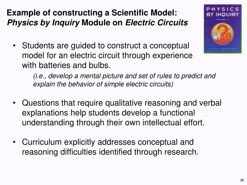 Example of constructing a Scientific Model: