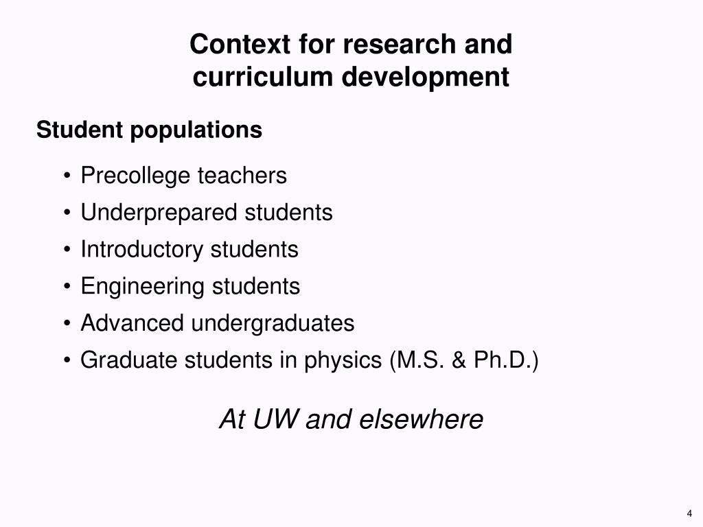 Context for research and