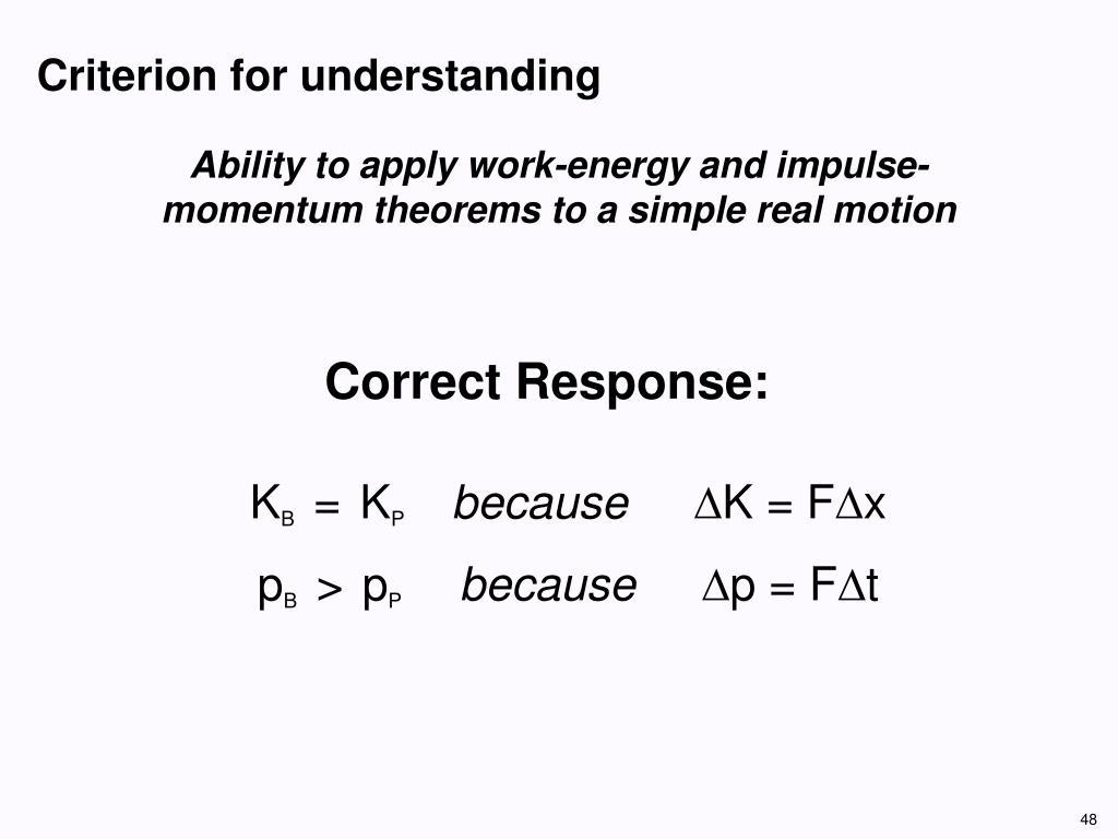 Criterion for understanding