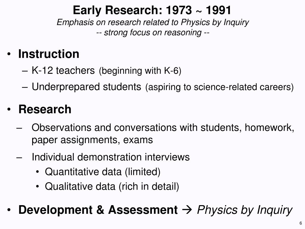 Early Research: 1973 ~
