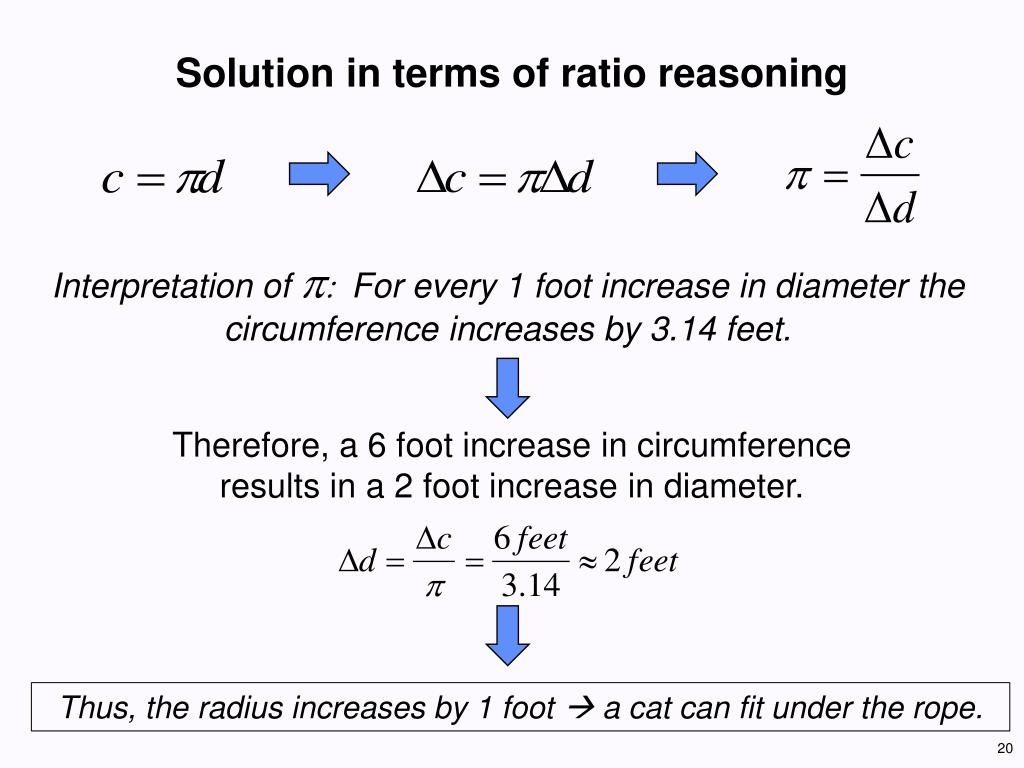 Solution in terms of ratio reasoning