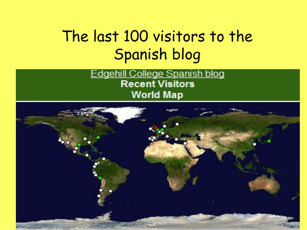 The last 100 visitors to the Spanish blog