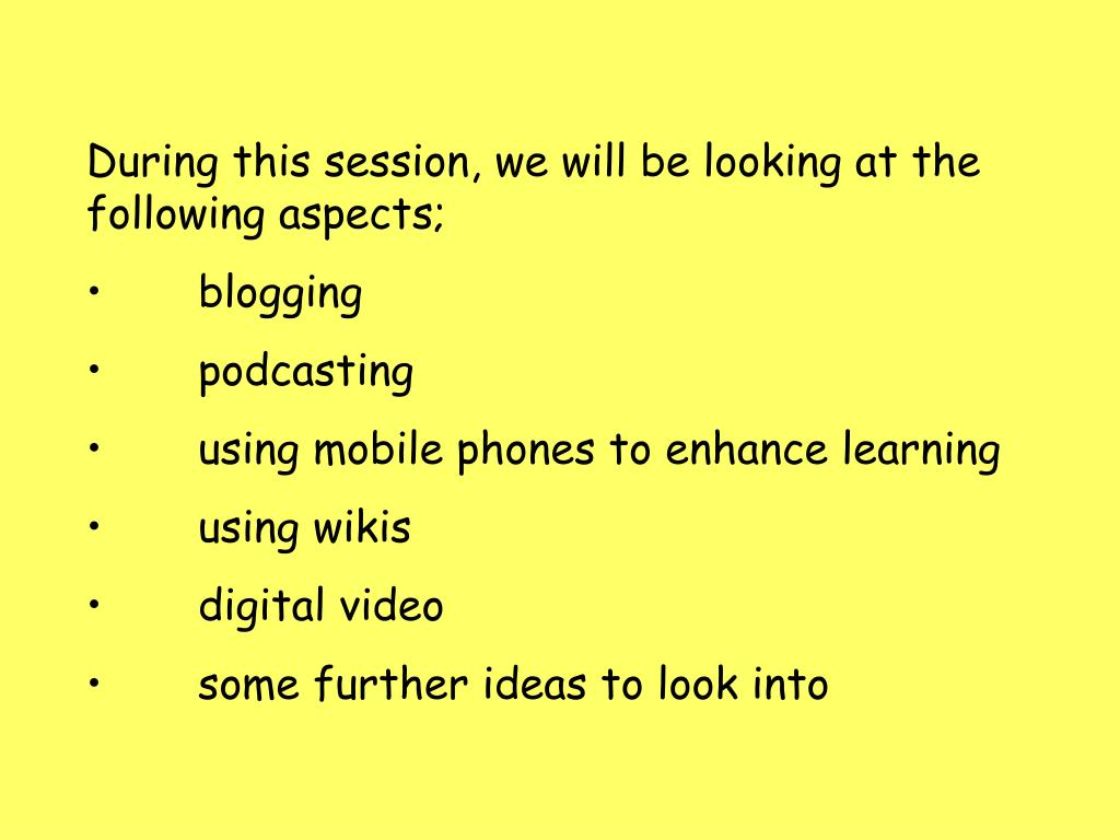 During this session, we will be looking at the following aspects;