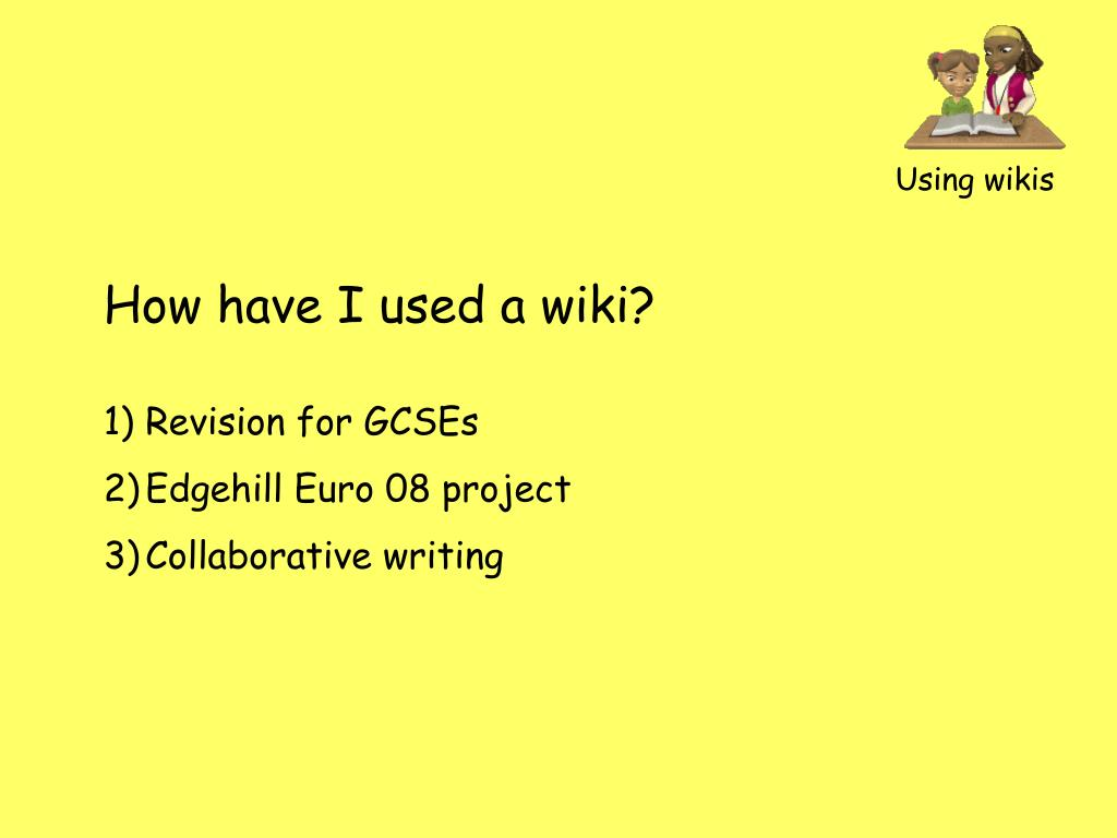 Using wikis