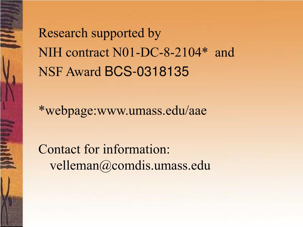 Research supported by
