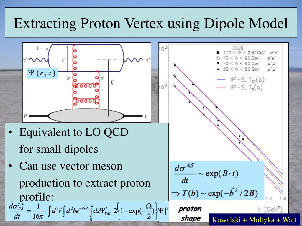 Extracting Proton Vertex using Dipole Model