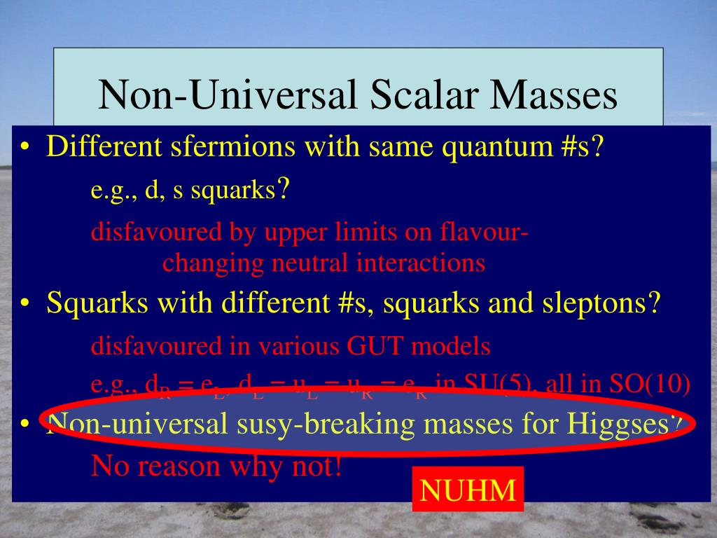 Non-Universal Scalar Masses