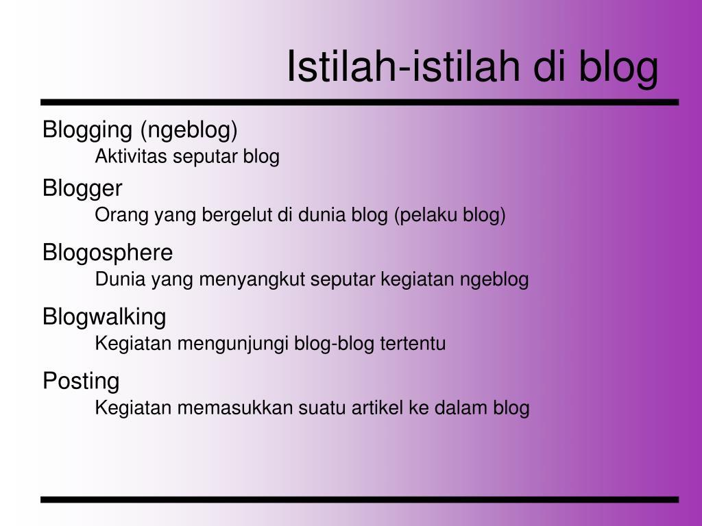 Istilah-istilah di blog
