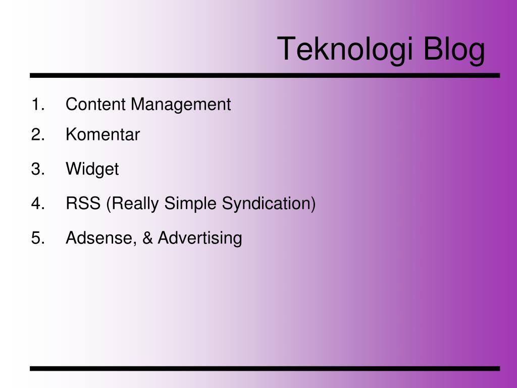 Teknologi Blog