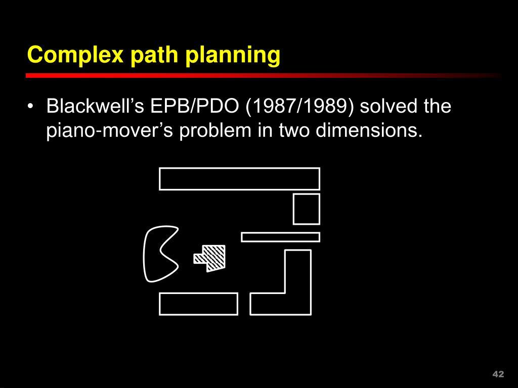 Complex path planning