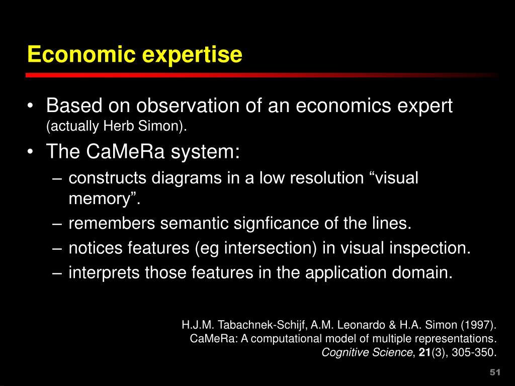 Economic expertise