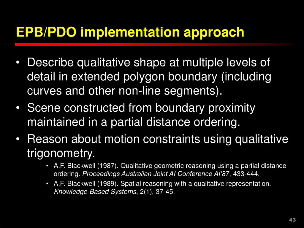 EPB/PDO implementation approach