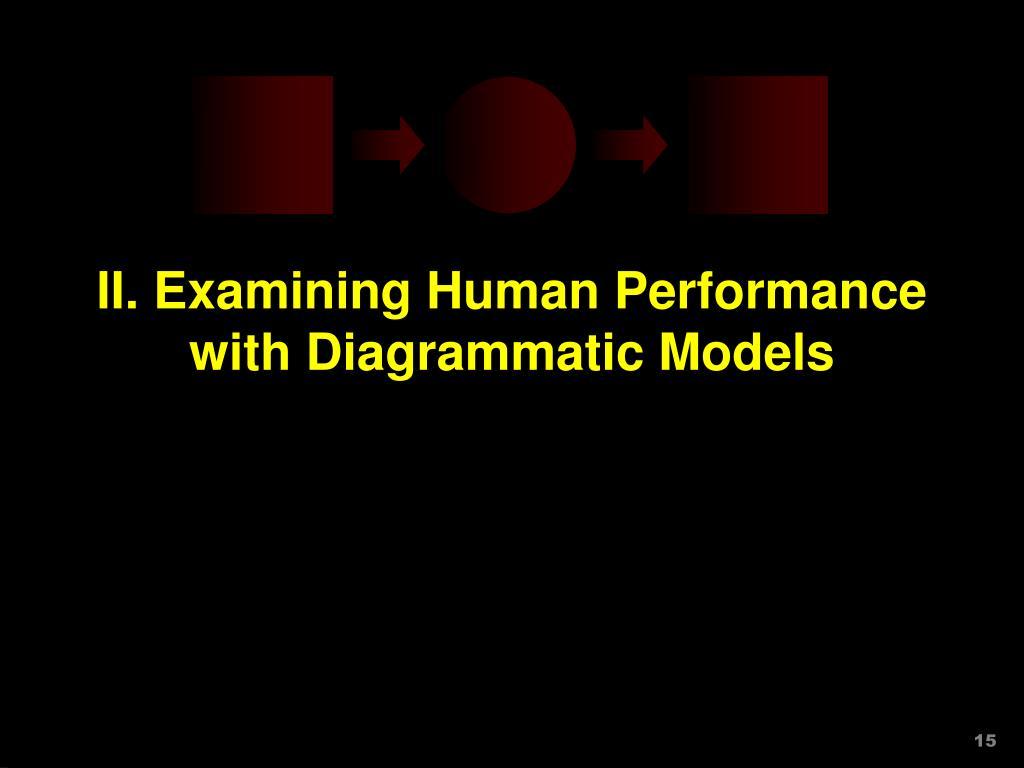 II. Examining Human Performance with Diagrammatic Models