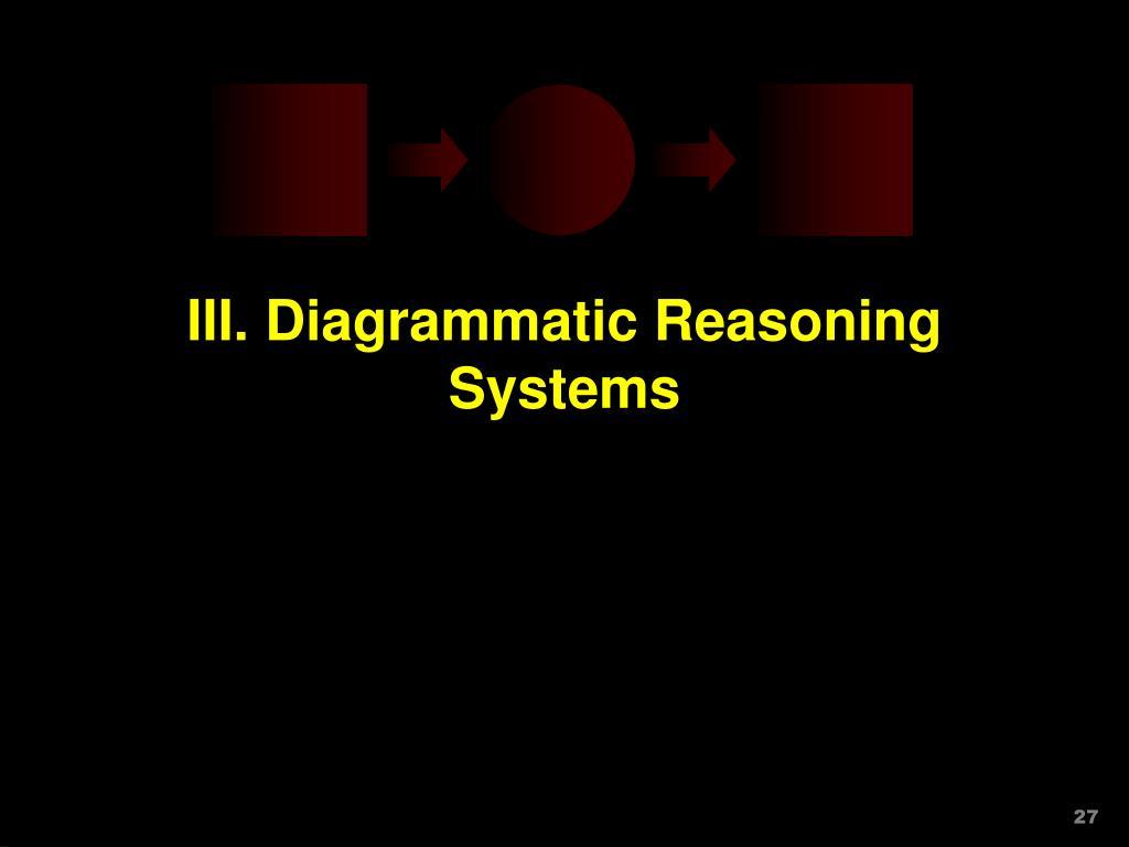 III. Diagrammatic Reasoning Systems