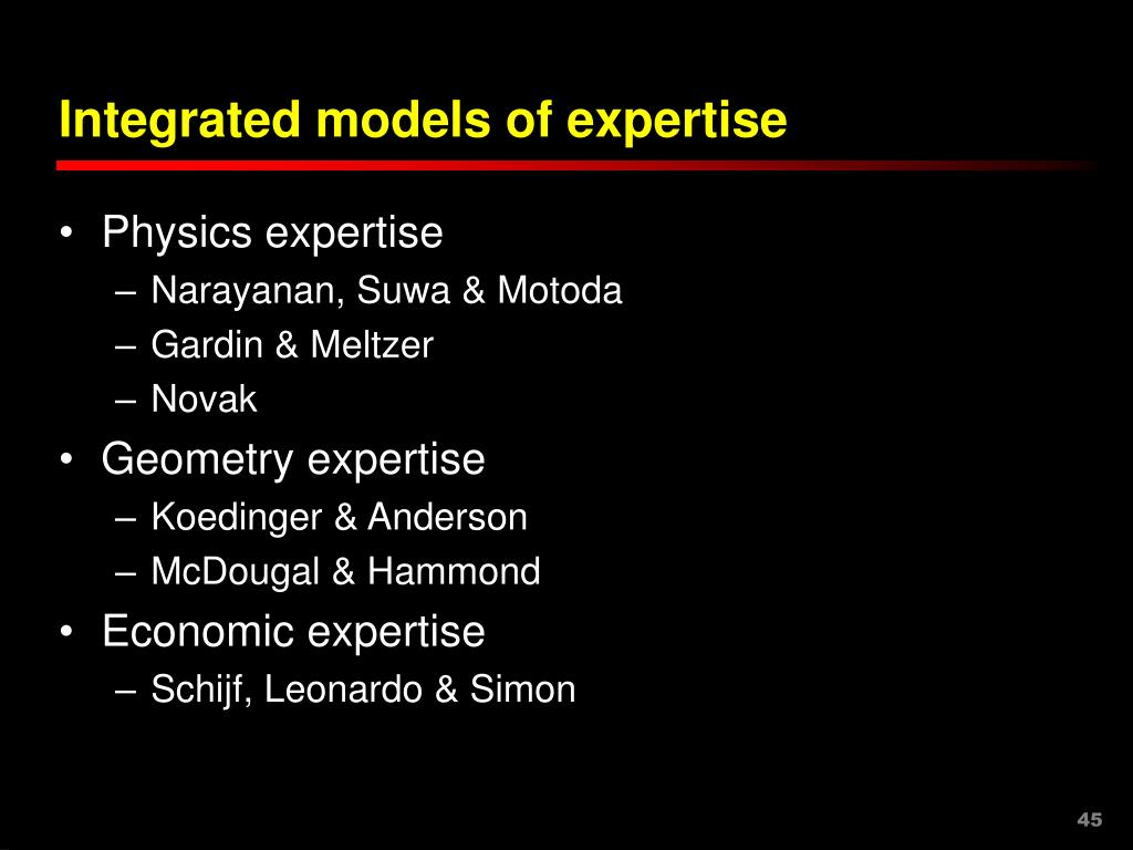 Integrated models of expertise