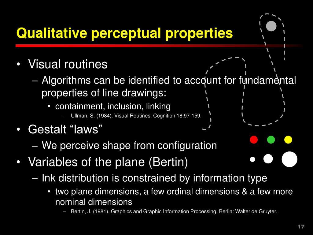 Qualitative perceptual properties