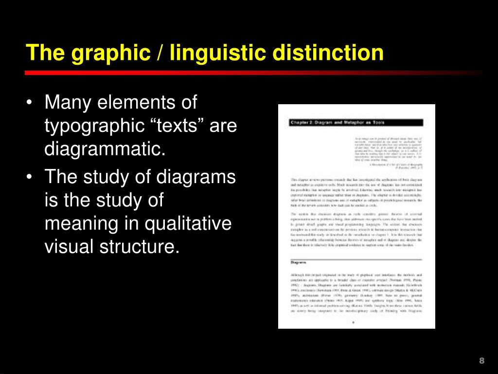 The graphic / linguistic distinction