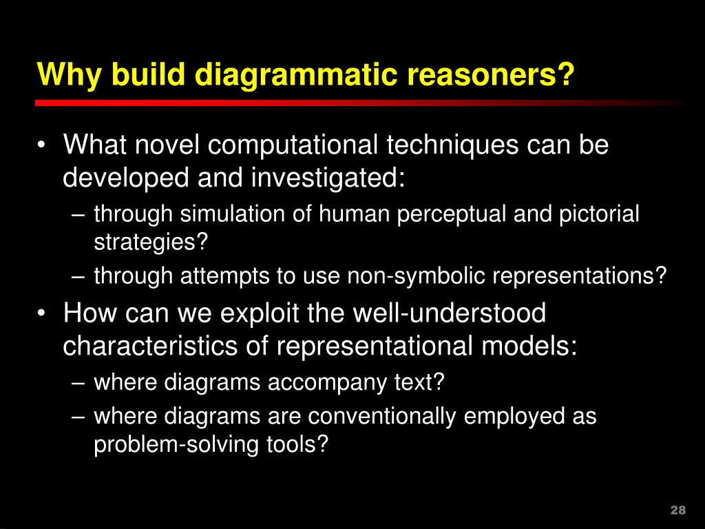 Why build diagrammatic reasoners?