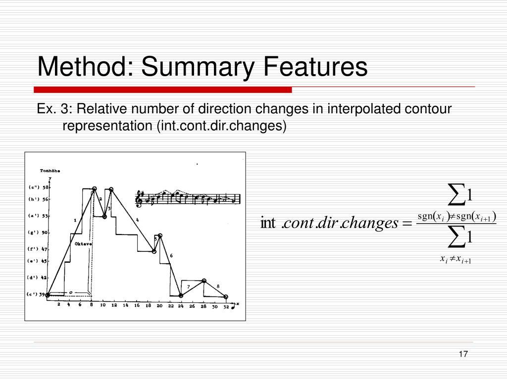 Method: Summary Features