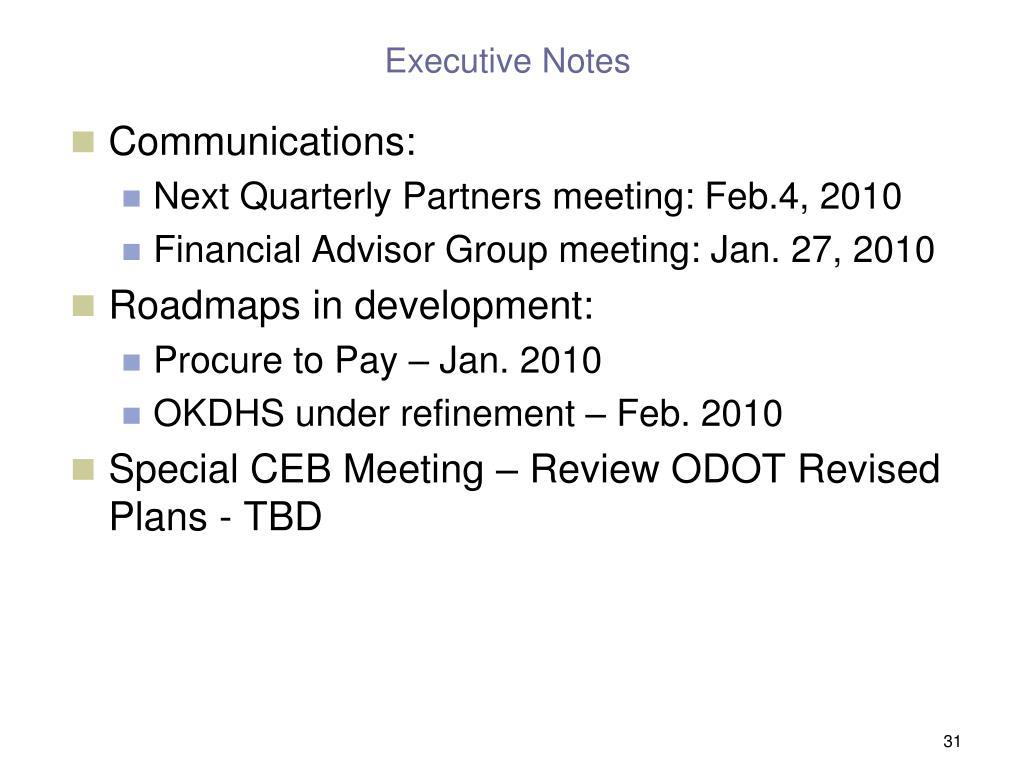 Executive Notes