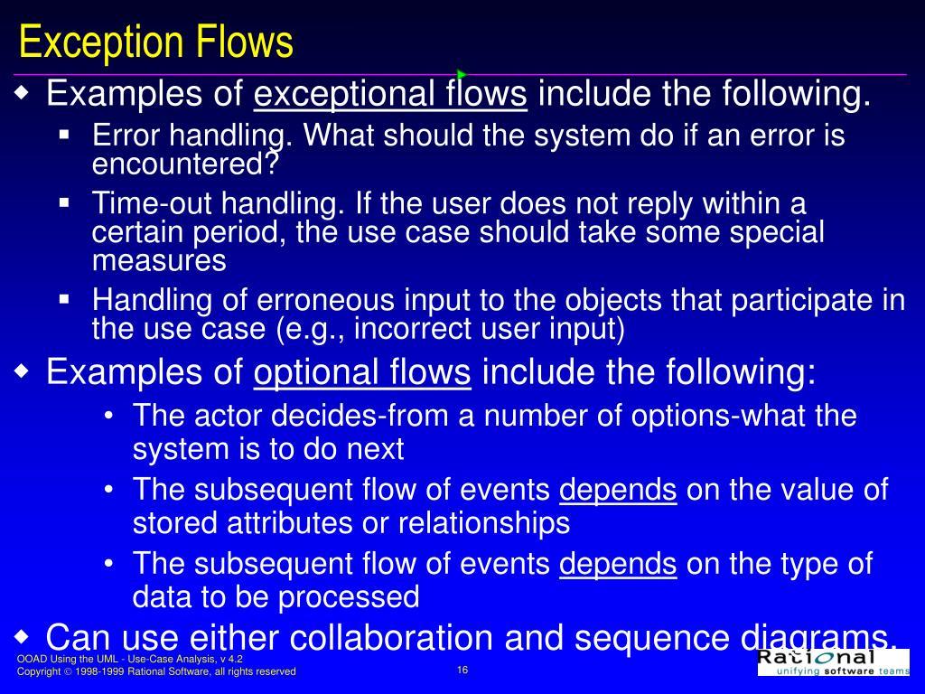 Exception Flows
