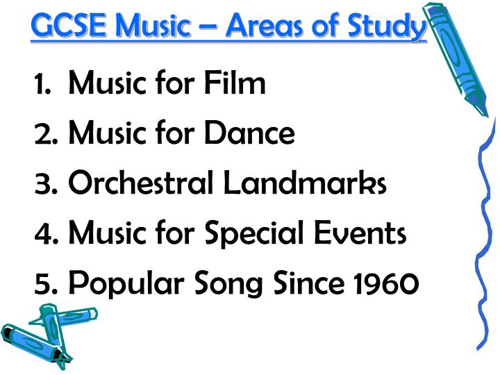Gcse music areas of study