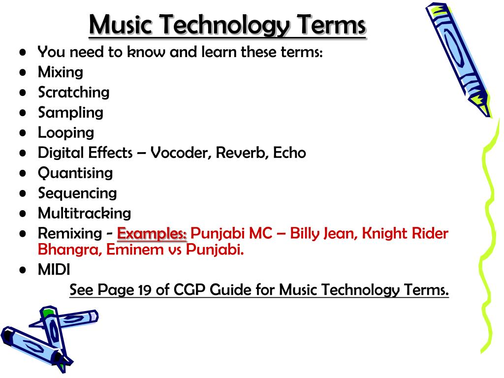 Music Technology Terms