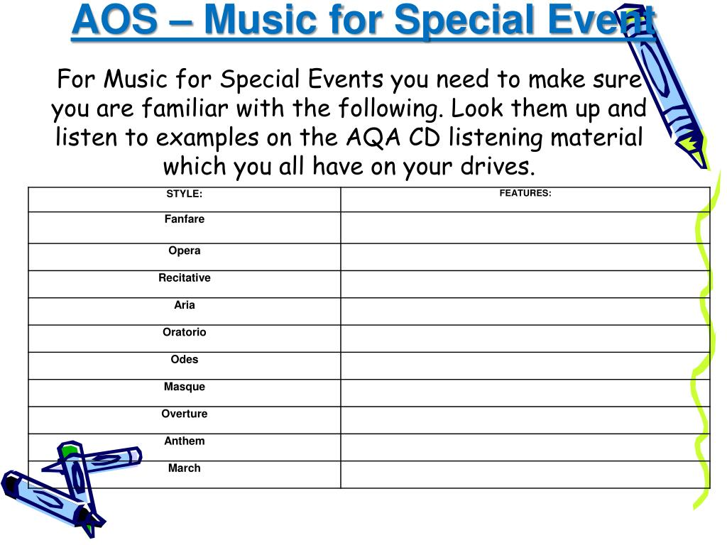 AOS – Music for Special Event