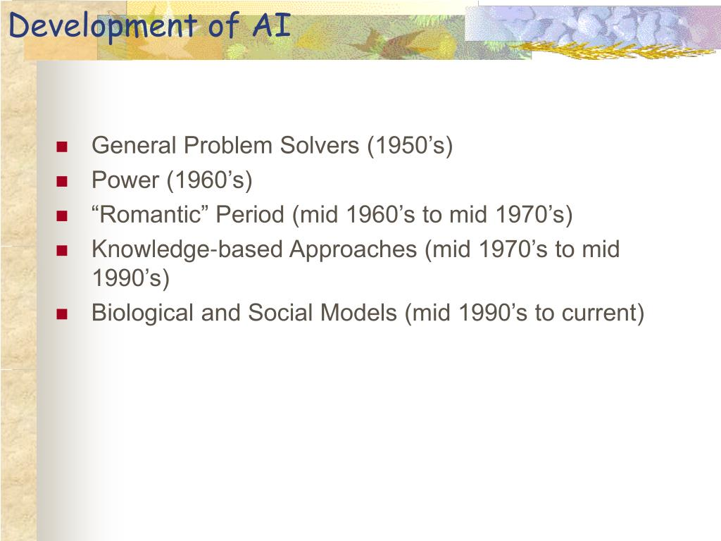 Development of AI