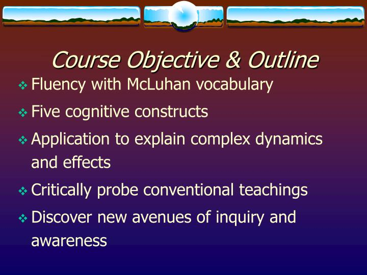 Course objective outline