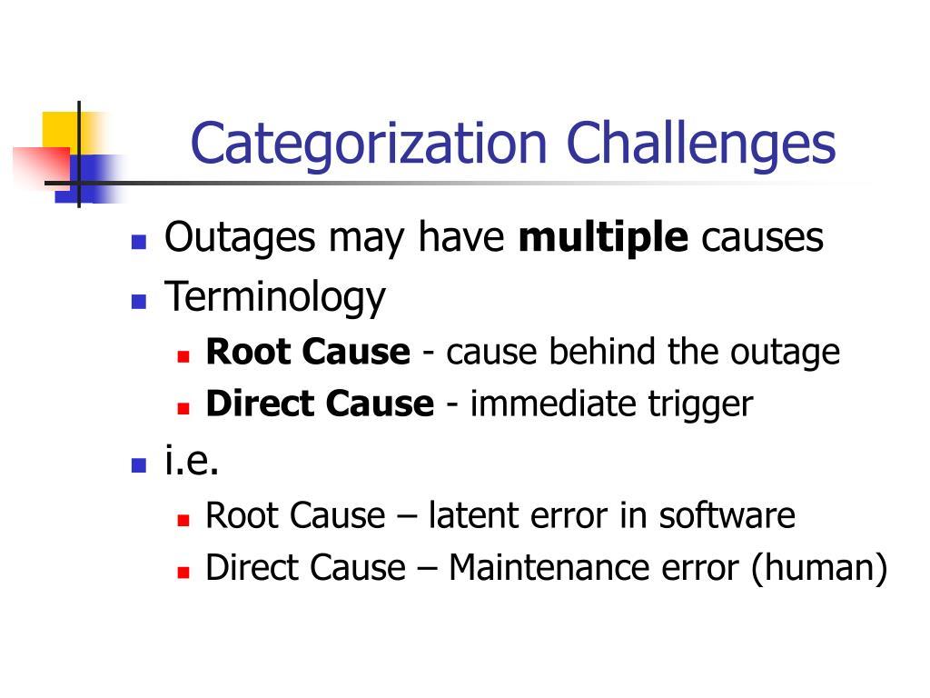 Categorization Challenges