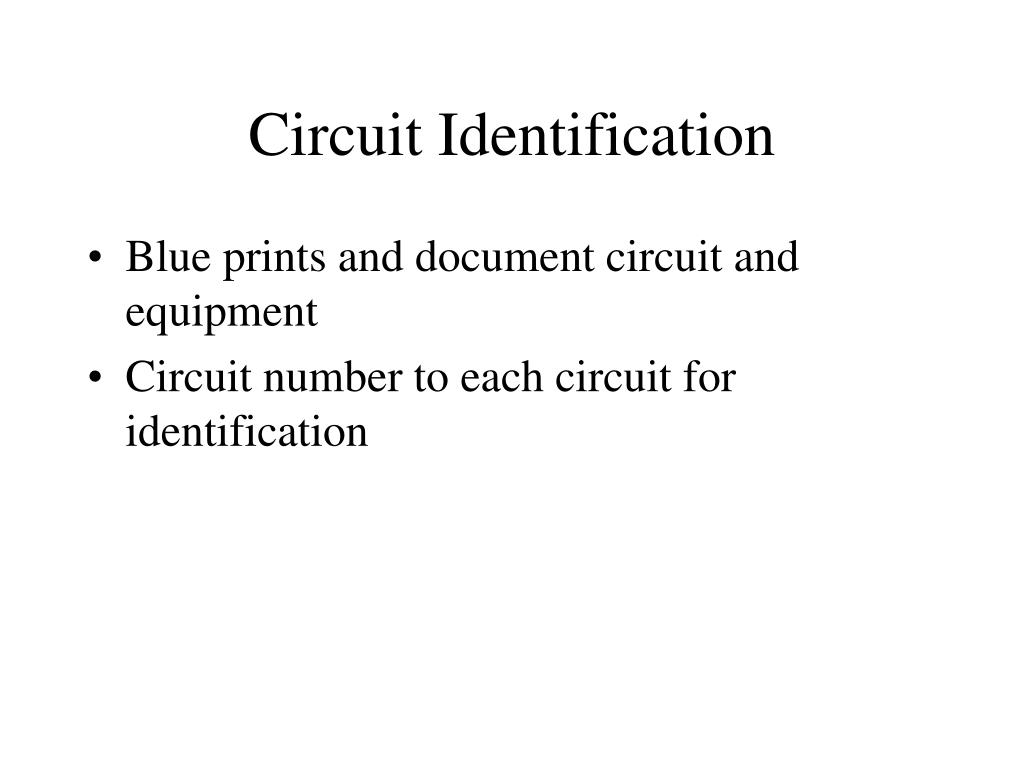 Circuit Identification