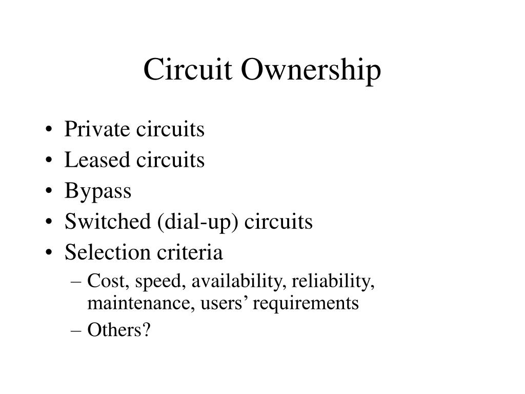 Circuit Ownership