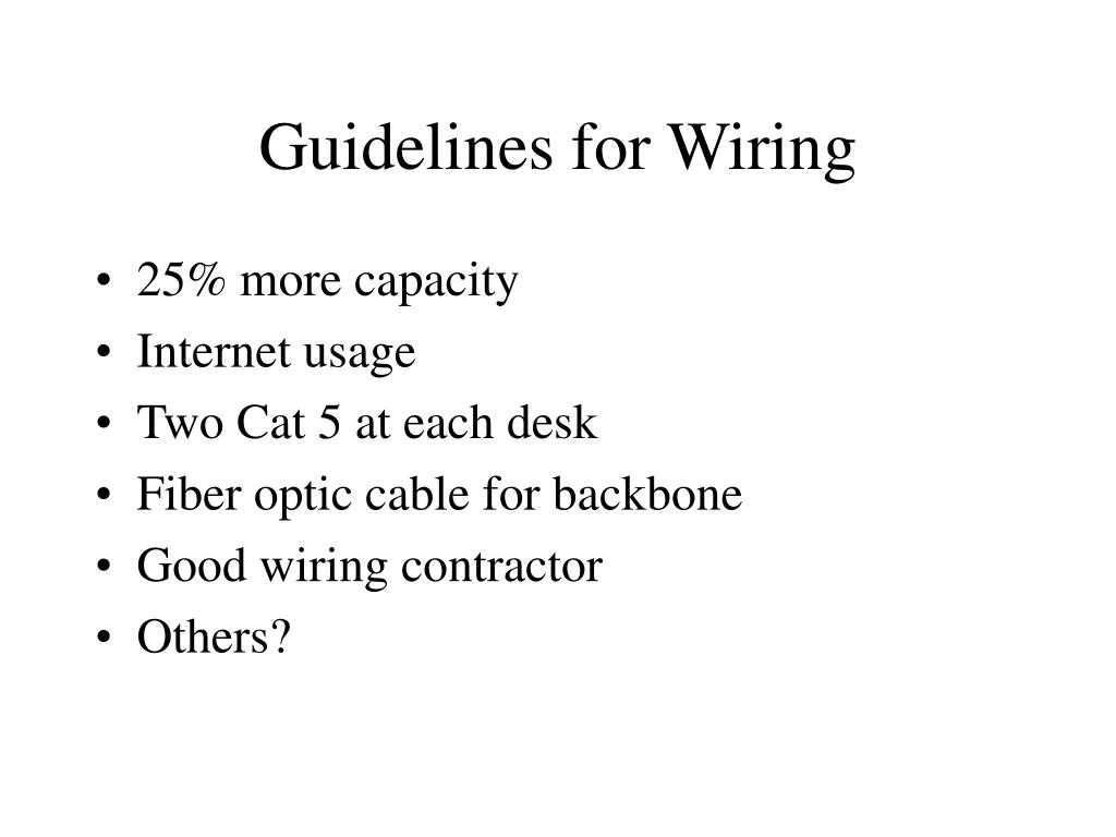Guidelines for Wiring