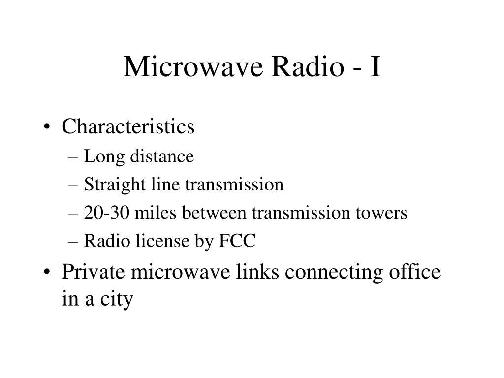 Microwave Radio - I