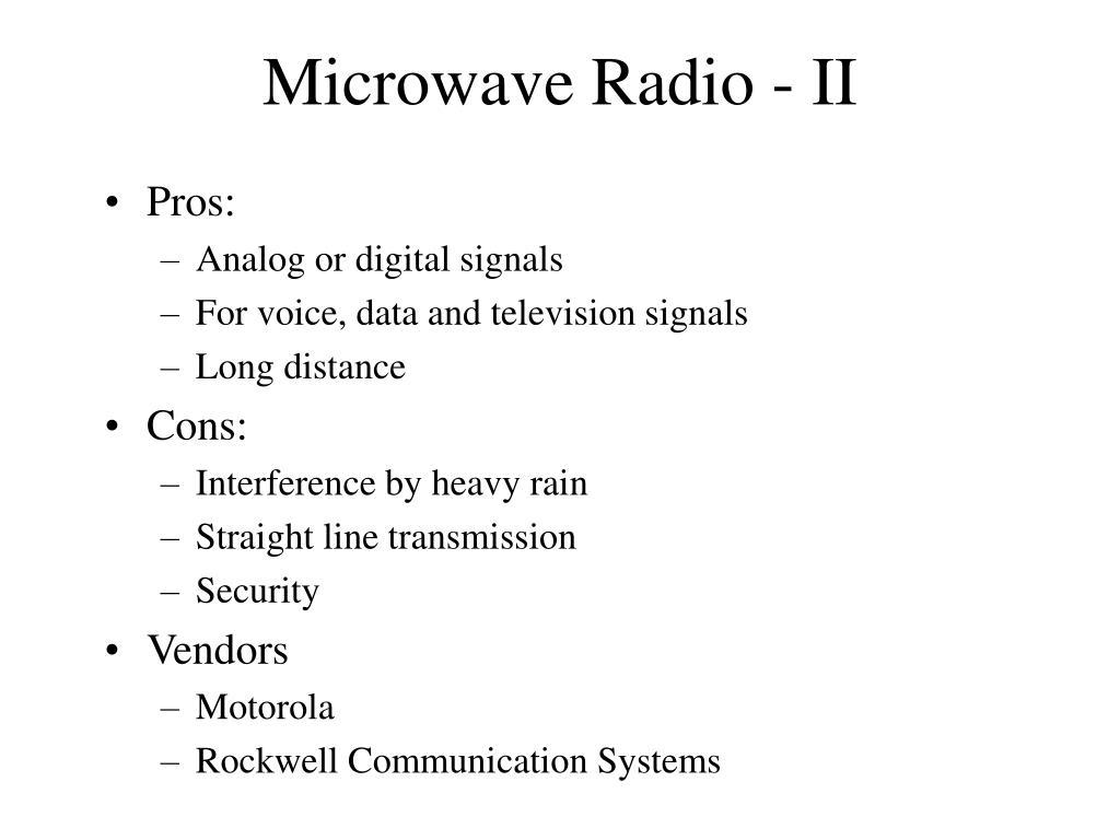 Microwave Radio - II