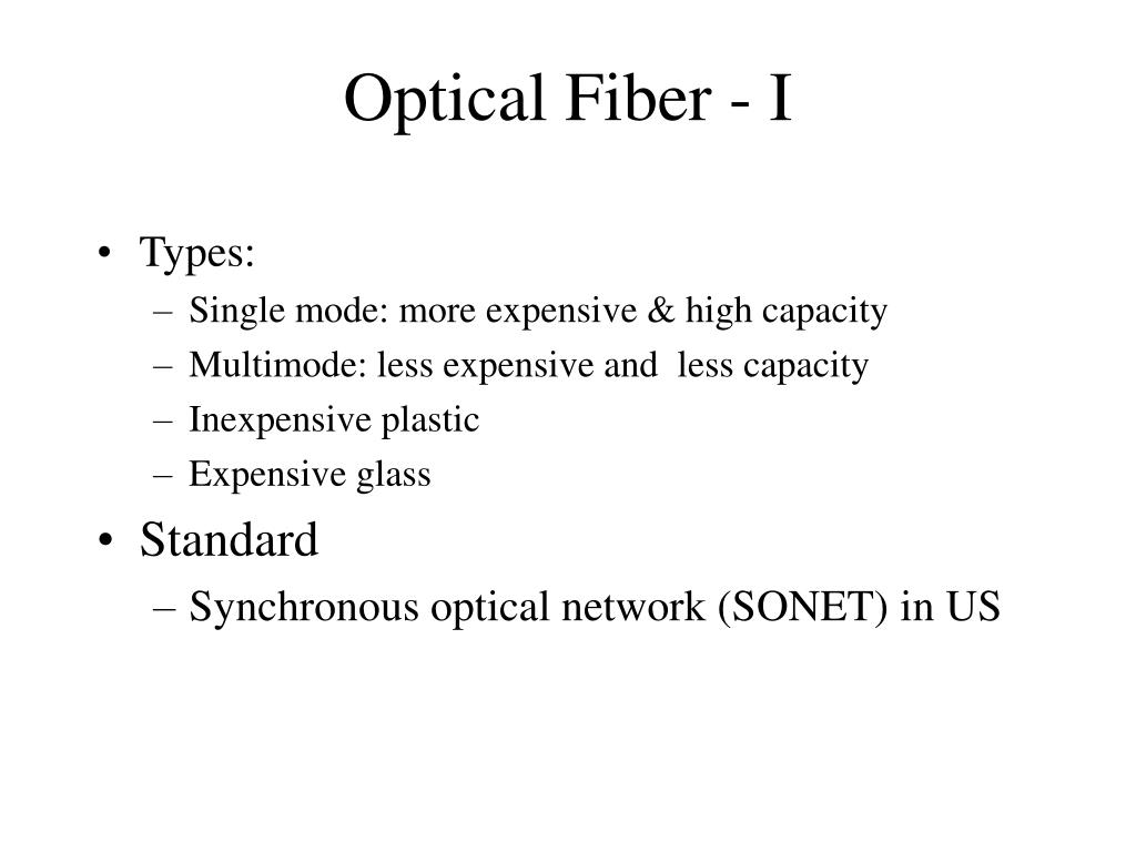 Optical Fiber - I